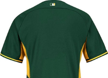 c2cd08aa Oakland Athletics Authentic A's Cool Base Green Baseball Jersey-Back View