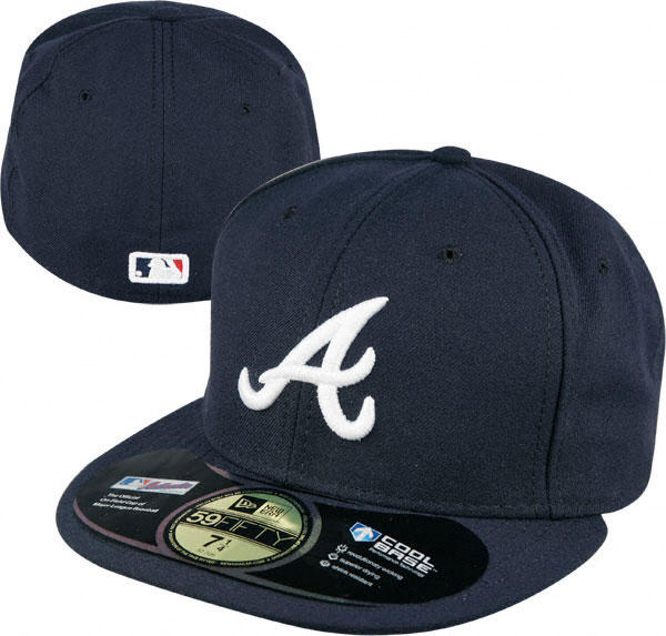 new product 1c034 db1e0 ... ireland atlanta braves navy new era authentic on field road 59fifty  fitted hat ef022 88091 ...