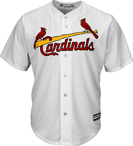 St. Louis Cardinals White Home Majestic MLB Baseball Jersey e668a4455