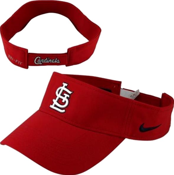 ... St. Louis Cardinals Nike Dri-FIT Red Stadium Adjustable Visor 8c7a7284a0f9
