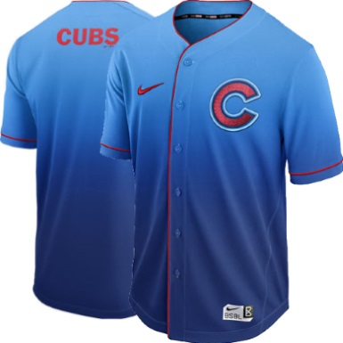 c0a8a652f ... Chicago Cubs Blue Fade Nike MLB Performance Baseball Jersey