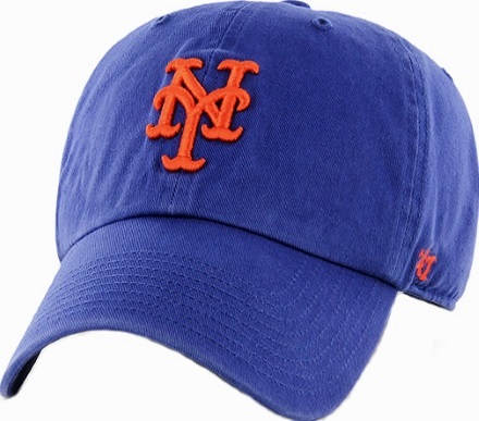 super popular 96c95 47745 ... New York Mets  47 Brand NY Blue Clean Up Relaxed Adjustable Hat