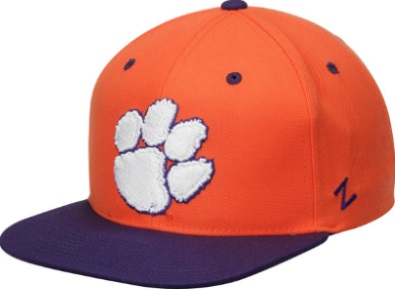 factory authentic e1d6d 50ea7 ... Clemson Tigers Zephyr Z11 Orange Purple Flat Bill Snapback Hat