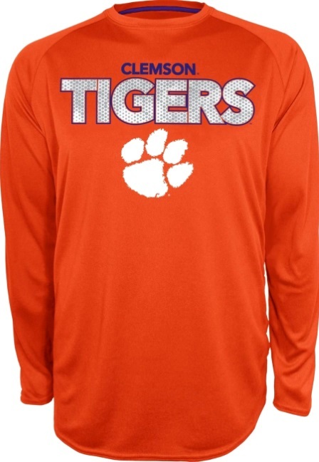 b3f3b6a25f4 Clemson Tigers Orange Section 101 Performance Long Sleeve T-Shirt