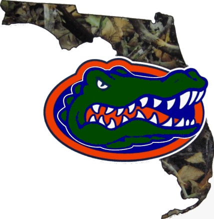 Florida Gators Camo Fl Gator Precision Cut Vinyl Uf Decal 5 5 Quot