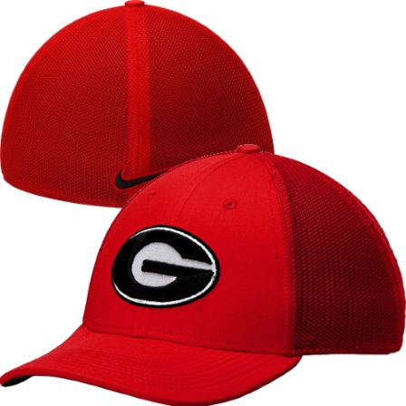 a71b8f444ede0 ... Georgia Bulldogs Red Nike UGA L91 Dri-Fit Mesh Swoosh Flex Hat