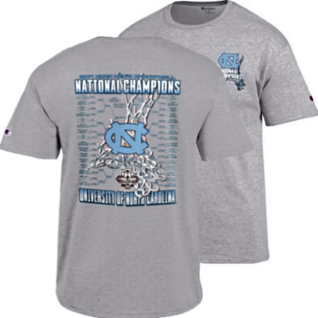 c84922e881d ... North Carolina Tar Heels 2017 Basketball Champions Gray T-Shirt