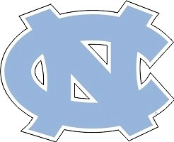 North Carolina Tar Heels Die Cut Blue Nc Logo Large Unc