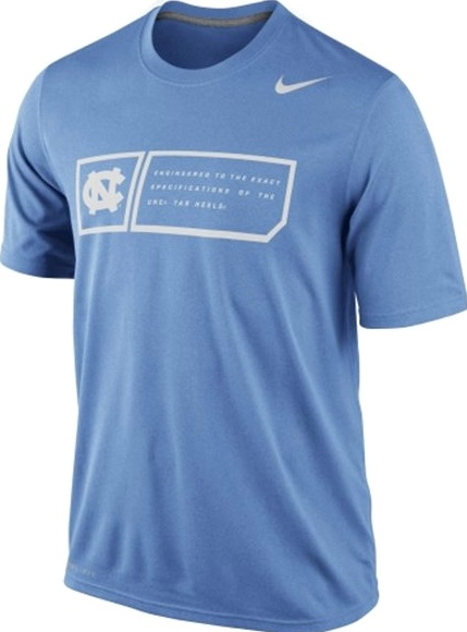 7006c789b1e ... North Carolina Tar Heels Nike Legend Training Dri-Fit UNC T-Shirt