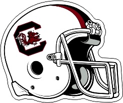South Carolina Gamecocks Die Cut Football Helmet Vinyl