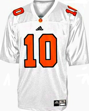 competitive price 49bfd 3ad9b Tennessee Volunteers #10 UT Vols White adidas Football Jersey