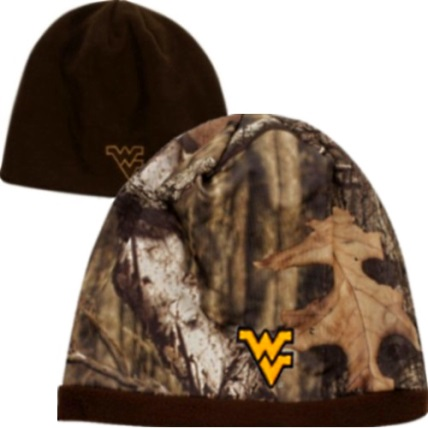 16152ae63 West Virginia Mountaineers WV Camo Reversible WVU Beanie Knit Hat