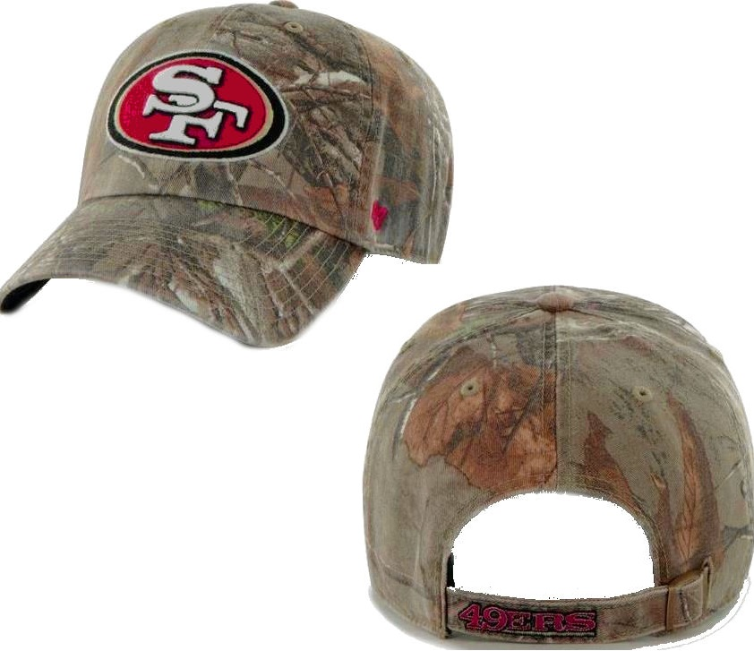 detailed look deab0 4ccb1 San Francisco 49ers  47 Brand Big Buck Realtree Camo Slouch Hat