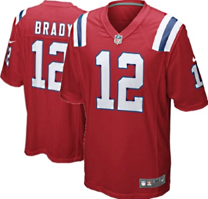 What Are The Patriots Colors >> New England Patriots Youth Tom Brady 12 Nike NFL Red Game Jersey