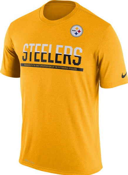 770475e08 ... Pittsburgh Steelers Gold Nike Team NFL Equipment DRI-FIT T-Shirt