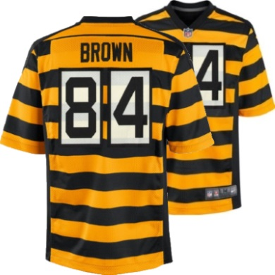 size 40 14478 b30dd Pittsburgh Steelers Youth 84 Antonio Brown Alternate Game Jersey