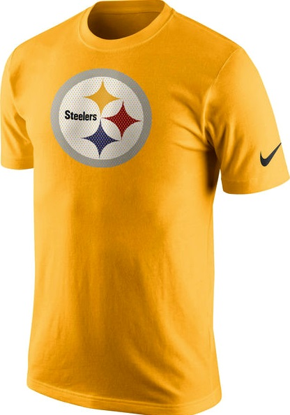 low priced 84682 566c8 Pittsburgh Steelers Jersey Logo Gold NFL Nike T-Shirt