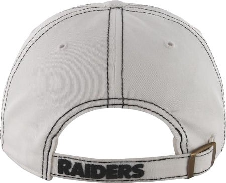 Oakland Raiders '47 Brand White Ketch Adjustable Slouch Hat